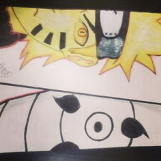 Naruto and obito # my drawing