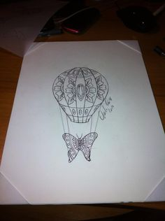 neo traditional tattoo flash #hot-air balloon tattoo flash Carlo fuerte