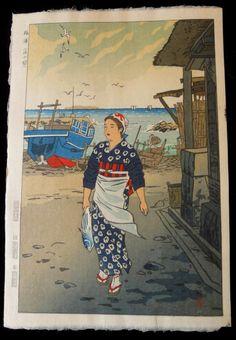 1954 - Kasamatsu, Shiro - Girl on the shore at Fukuura