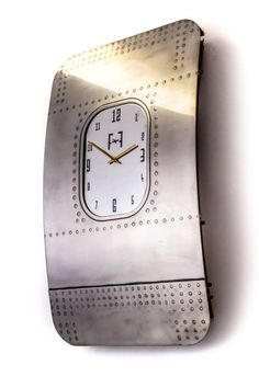 Authentic, vintage, aircraft Boeing 737, bespoken hand polished wall art clock.