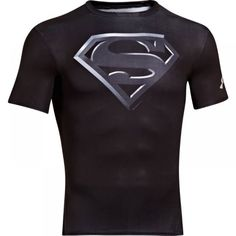 Under Armour T-Shirt, Alter Ego Superman Compression - Black S Superman Shirt, Black Superman, Rugby Outfits, Sport Outfits, Under Armour Herren, Under Armour Men, Alter Ego, Rugby Hoodies, Compression T Shirt