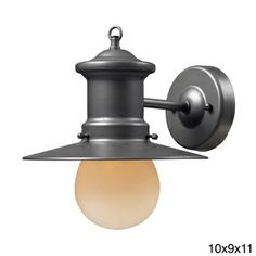 1-light Graphite Outdoor Sconce $88 also in browns