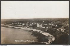 General View of Falmouth, Cornwall, 1910 - RP Postcard