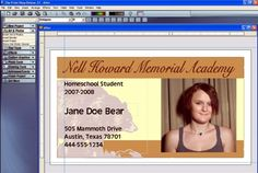 Creating and Fine-tuning a Basic Student ID Card: Alternate Makeover: A Little Different From The Final