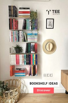 Create the best #bookcase with TEEbooks floating shelves! The very heart of #book fans can be found by the way they manage their volumes. Book readers practice their possession with maximum care because books are not a printed unit for them, they are the solution to a complex world of creativity. Floating Bookshelves, Wall Bookshelves, Bookshelf Design, Wall Mounted Shelves, Bookcase, Contemporary Shelving, Bibliotheque Design, Etagere Design, Decorating Bookshelves