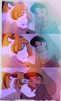 Favorite Overall Disney Moment- Anytime Jasmine is with Rajah. I have always wanted to be her ever since I can remember. I want a pet tiger! I guess my little kitten named Rajah will have to do. ;)