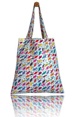 Retro Sweets Lined Tote Bag - Handmade in London via Etsy Retro Sweets, Tote Bags Handmade, Reusable Tote Bags, London, Fabric, Etsy, Tejido, Big Ben London, Tela