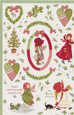 Vintage Hollie Hobbie Christmas sticker sheet by by STICKERPLANET, $3.50