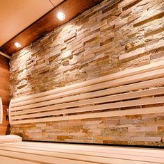 Modern sauna using wood, stone and glass as well as indirect lighting. Spas, Cabana, Modern Saunas, Piscina Spa, Sauna Design, Sauna Room, Indirect Lighting, Arch Interior, Spa Rooms