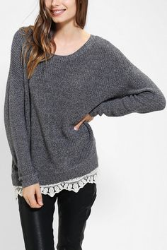 The search for the perfect super-comfy, slouchy knit sweater...