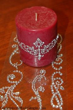 Candle Centerpieces With Bling
