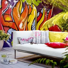 Urban graffiti garden | Gardens - top weird and wonderful | Livingetc | Housetohome.co.uk