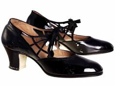 1920 women's shoes | ... Part 3 1920s Black Patent Leather Women's Shoe – Mass History