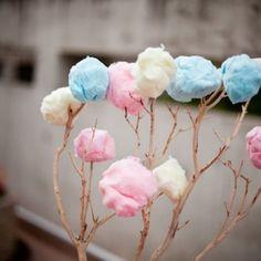 wedding cotton candy centerpiece - Google Search