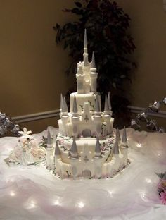 Castle wedding By MargaretG on CakeCentral.com