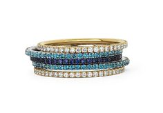 Micro-Set Stackable Bands by Martin Katz, Ltd.