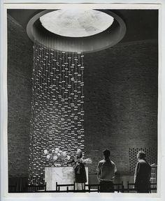 VINTAGE 1955 Eero Saarinen's Chapel @ MIT Modern Architecture ICONIC Press Photo