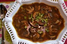 A Southern Soul: Mushroom Soup With No Cream!