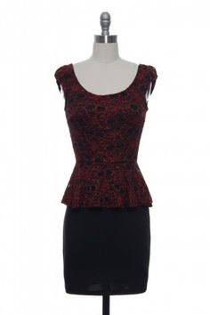 """Lace Affair's """"Metamorphosis at Midnight"""" dress. I'm really into peplum dresses lately!"""
