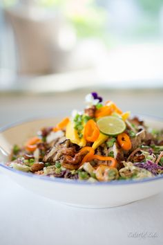 Gluten Free & Paleo Thai Chicken Chop Salad by Colorful Eats