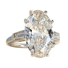 6.61CT H/IF Antique Oval Diamond Ring | From a unique collection of vintage engagement rings at http://www.1stdibs.com/jewelry/rings/engagement-rings/