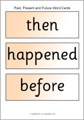 Past, present and future topic word cards (SB10561) - SparkleBox