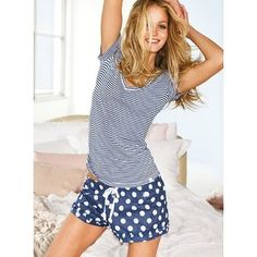 Super Cute Cotton Sleep Short by Victoria's Secret - brought to you by Skoother.com for beautiful soft smooth feet.