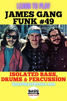 Funk #49 – James Gang – Isolated Bass / Drums / Percussion (bass elevated) – Published to help you hear and learn the bass and drums parts – Backing / Jam / Play Along Track #JamesGang #Funk49 #VintageFunk #BassGuitar #BassMusic #ClassicRock #DalePeters #JoeWalsh Bass Guitar Scales, Play Guitar Chords, Learn Bass Guitar, Bass Guitar Lessons, Guitar Lessons For Beginners, Drum Lessons, Guitar Songs, Teach Yourself Guitar, Drum Music