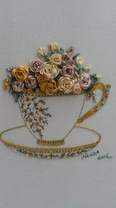 Wonderful Ribbon Embroidery Flowers by Hand Ideas. Enchanting Ribbon Embroidery Flowers by Hand Ideas. Ribbon Embroidery Tutorial, Learn Embroidery, Embroidery Patterns Free, Hand Embroidery Stitches, Silk Ribbon Embroidery, Hand Embroidery Designs, Embroidery Kits, Embroidery Techniques, Embroidery Supplies