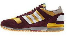 sports shoes 71ad5 f2b5f Adidas Originals ZX 700 Retro Scarpe da running Uomo Marrone Scuro Giallo  miele Bianco on line shop