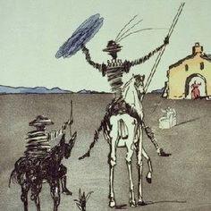 Historia De Don Quichotte De La Mancha Impossible Dream 1980 by Salvador Dali - Etching Gustav Klimt, Salvador Dali Kunst, Caballero Andante, Figueras, Man Of La Mancha, Dom Quixote, Les Religions, Photo D Art, Spanish Artists