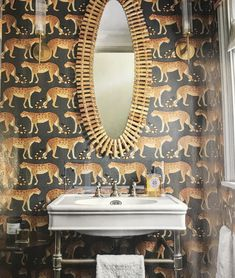 Leopard Walk 109/2008 wallpaper, Cole & Son Lonsdale basin on frame, The Water Monopoly