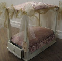 cute dog beds made out of old furniture - Google Search