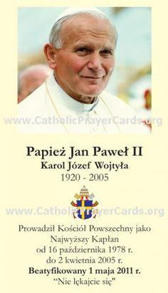 Catholic Holy Cards - Catholic Prayer Cards - New Pope - Catholic New Springtime of Evangelization Papa Juan Pablo Ii, New Pope, Pope John Paul Ii, Paul 2, Catholic Prayers, Catholic Memes, Religion, Papa Francisco, Faith In Love