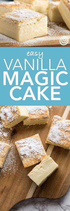 How To Make Vanilla Magic Cake, a Step-by-Step Recipe with Photos. Desserts don't come any more easy or quick than this! Simple enough for kids to make, and unique enough for a crowd. You probably already have everything you need too!
