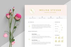 Ad: Resume by craftiva on Make a positive impression with this simple and clean resume template. A minimalist resume and cover-letter template pack for professionals, Resume Pdf, Resume Tips, Resume Examples, Cv Tips, Resume Design Template, Creative Resume Templates, Design Templates, Creative Cv, Cv Template