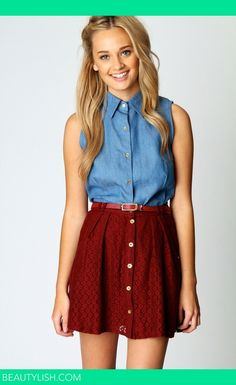 another men's shirt refashion inspiration:  Can make the skirt longer and this would also be really cute.