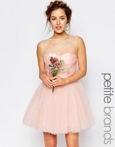 True Decadence Petite | True Decadence Petite Halterneck Prom Dress With Bow Back at ASOS