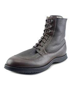 HOGAN Hogan Route One Men  Round Toe Leather Brown Boot'. #hogan #shoes #boots