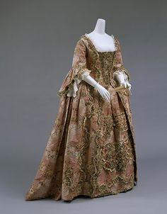 Robe à la Française (image 2) | French | 1750-75 | silk | Metropolitan Museum of Art | Accession Number: C.I.59.29.1a, b