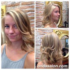 #haircolor #haircut and #blowdry by #pierozattera #ondasalon #highlights #mechas #cortedepelo #peinado www.ondasalon.com