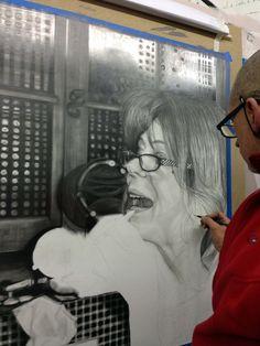 tableau hyperréalisme Dessin hyperréaliste au crayon sur papier 150cm x 107cm- temps de réalisation 58h. www.a-abyla.com