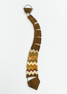 Pinstriped Handcrafted Wooden Necktie by Woodland Inspirations