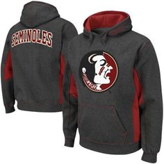 Florida State Seminoles Fleece Pullover Hoodie - Charcoal/Garnet Colors
