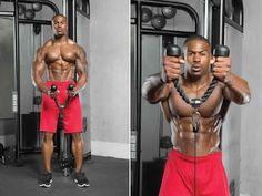 7 best exercises for bigger shoulders - Gym Workout Shoulder Gym, Best Shoulder Workout, Shoulder Muscles, Deltoid Workout, Triceps Workout, Man Workout, Muscle Fitness, Mens Fitness, Health Fitness