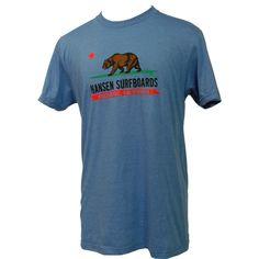 Hansens Mens Shirt CA Flag