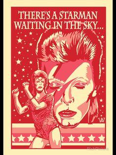 David Bowie, Art Poster.