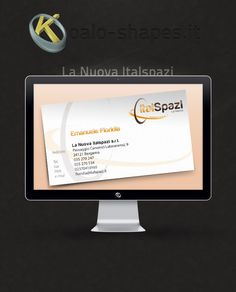 La Nuova Italspazi #business #card by Koalo Shapes --- La Nuova Italspazi is an outdoor advertising spaces agency.