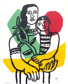 Léger Fernand : Lithograph : Woman and child
