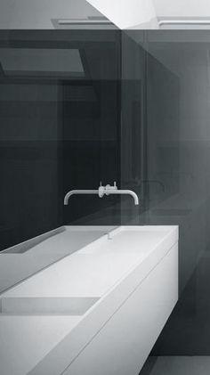 Work in Progress, 2014 - interior ceramic architecture project: minimalistic white ambient   bathroom . Bad . salle de bain   Architect: Studio Niels  